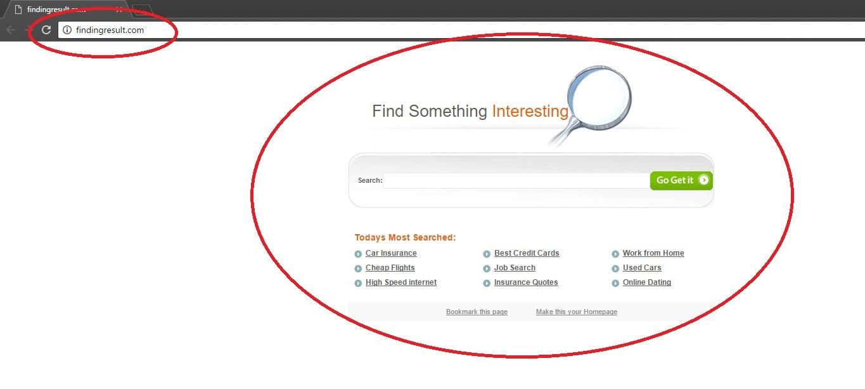 Findingresult.com Browser Redirect